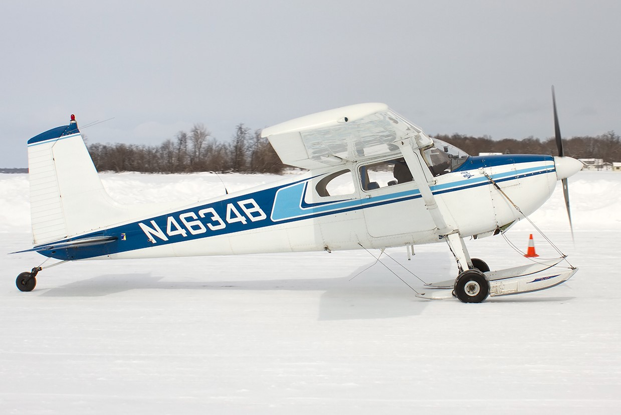 1955 Cessna 180 with Floats and Wheels Skis